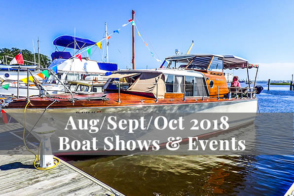 Aug/Sept/Oct 2018 Boat Shows & Events